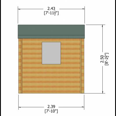 Camelot Log Cabin 8ft x 8ft