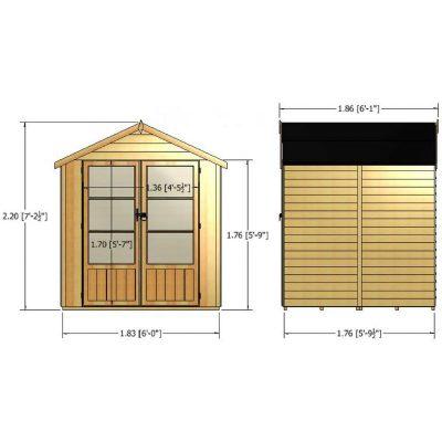 Oatland Overlap Summer House 6ft x 6ft