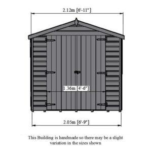 Alderney 7 x 7ft Shed