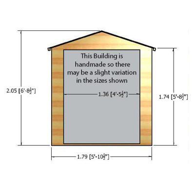 Arran 6 x 6ft Shed Double Door