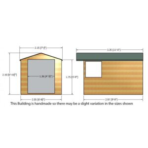 Guernsey 7 x 10ft Shed Double door