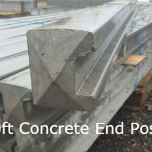 10ft Concrete End Post