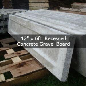 12″ x 6ft Recessed concrete gravel board