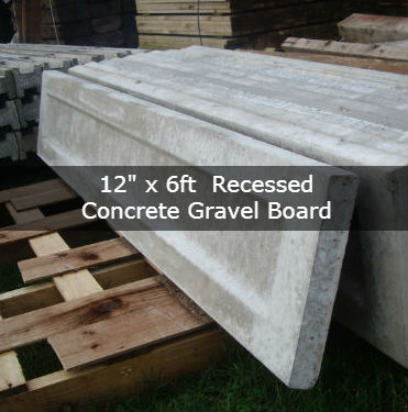 12″ x 6ft Recessed concrete gravel board