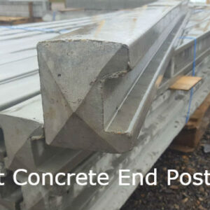 6ft Concrete End Post