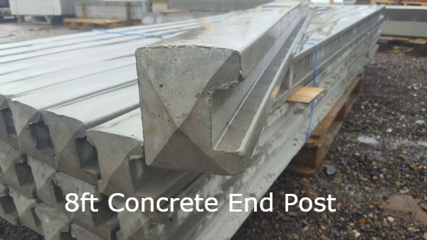 8ft Concrete End Post