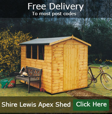Lewis Garden Shed 6 x 4 Free Delivery