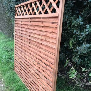 Hit & Miss Fence Panel with trellis 6ft x 3ft