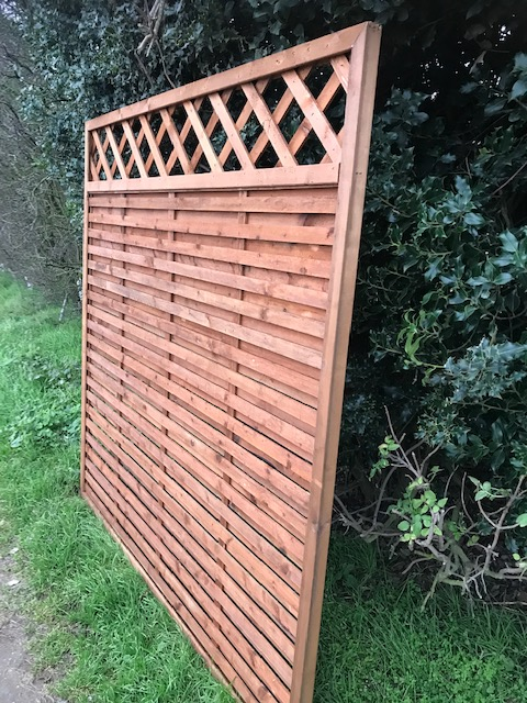 Hit Amp Miss Fence Panel With Trellis 6ft X 3ft Colchester