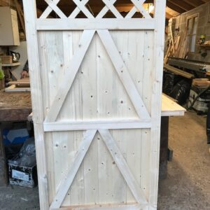Tongue and groove Trellis Top Framed Gate